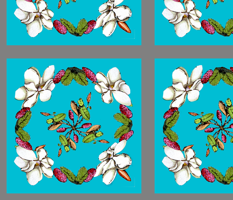 Magnolias fabric by adr_designs on Spoonflower - custom fabric