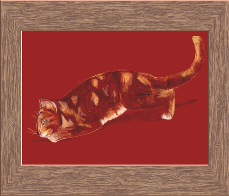 Red Tabby Cat fabric by eclectic_house on Spoonflower - custom fabric