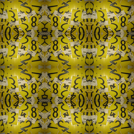 House Numbers fabric by 23burtonavenue on Spoonflower - custom fabric