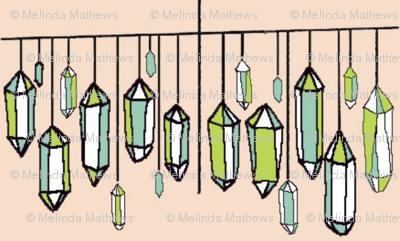 hanging gems linen jade & tender shoots