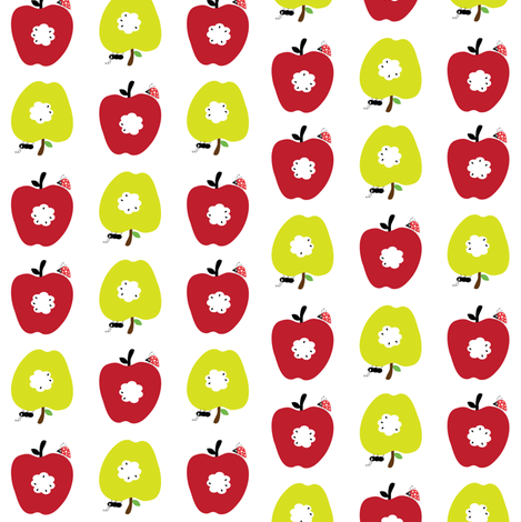 Red Apples, Green Apples. fabric by halfpinthome on Spoonflower - custom fabric