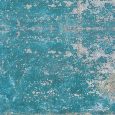 Worn Blue Painted Wall fabric by 23burtonavenue on Spoonflower - custom fabric