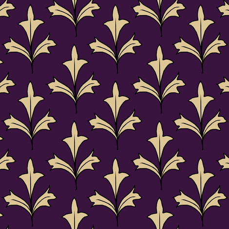 Golden Leaves fabric by pond_ripple on Spoonflower - custom fabric