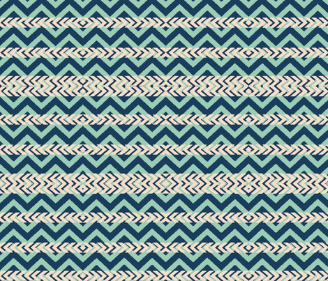 tricolorchevron-ed fabric by bymindy on Spoonflower - custom fabric