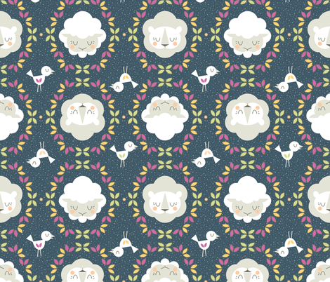 The Lion & The Lamb fabric by powpourri on Spoonflower - custom fabric