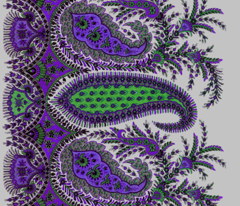 The Paisley Sublime ~ Dowager Countess Violet Border Print fabric by peacoquettedesigns on Spoonflower - custom fabric