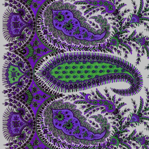 The Paisley Sublime ~ Dowager Countess Violet Border Print