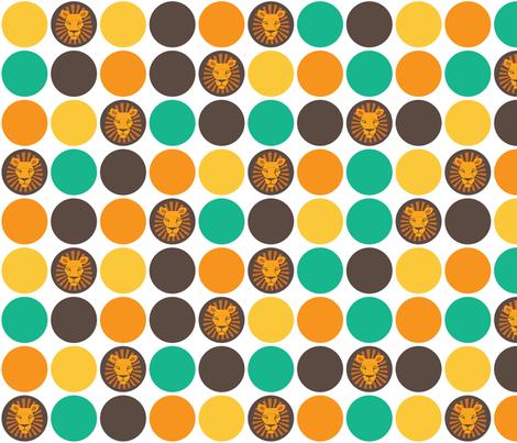 Lion confetti fabric by pieke_wieke on Spoonflower - custom fabric