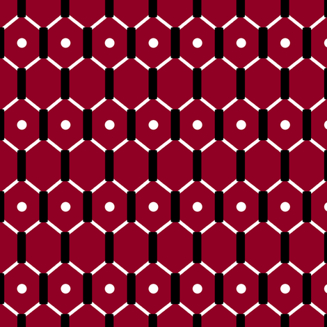 Red Hex fabric by pond_ripple on Spoonflower - custom fabric