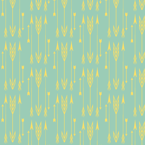 arrows jade & lemon zest fabric by bymindy on Spoonflower - custom fabric