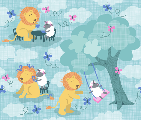 LEO & LILLY'S MARCH PLAYDATE fabric by bzbdesigner on Spoonflower - custom fabric