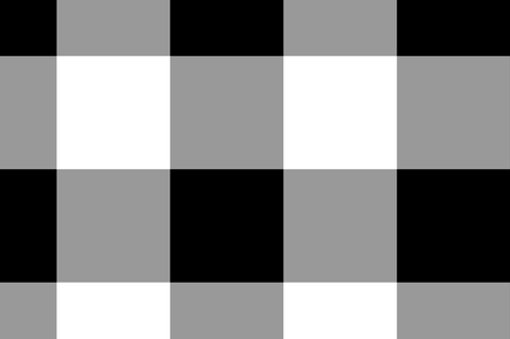 Gingham ~ Black and White and Grey All Over fabric by peacoquettedesigns on Spoonflower - custom fabric