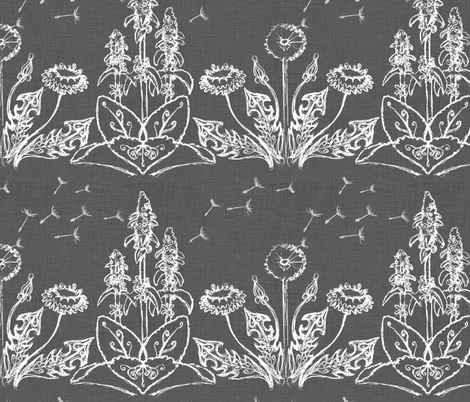 dandy Lion &amp; Lamb's ear fabric by bjornonsaturday on Spoonflower - custom fabric