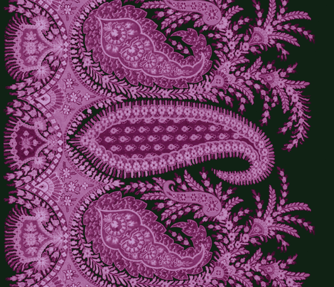 The Paisley Sublime ~ Wuthering Heights Border Print fabric by peacoquettedesigns on Spoonflower - custom fabric