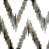 Charcoal and White Ikat Chevron