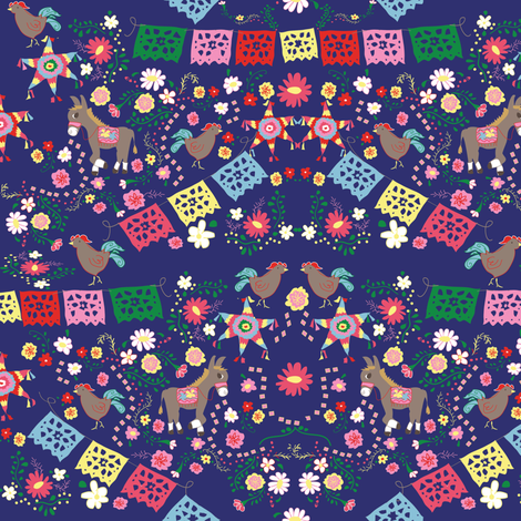 fiesta fabric by fabricfarmer_by_jill_bull on Spoonflower - custom fabric