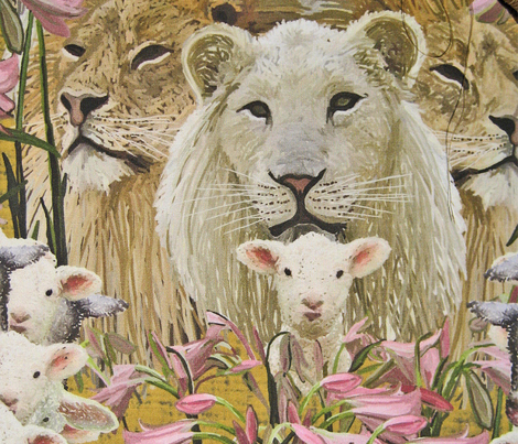 Lions, lambs and easter lilies by Su_G