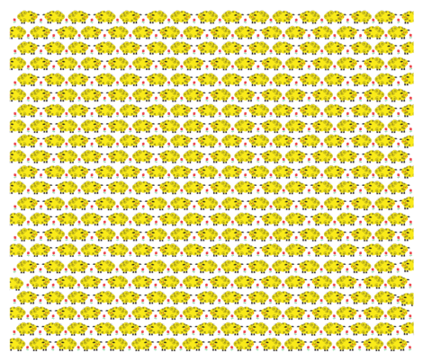 Little Yellow Lamb fabric by gigi_&_me on Spoonflower - custom fabric