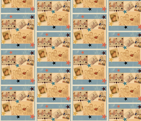 RETRO Children by Jan Shackelford  fabric by janshackelford on Spoonflower - custom fabric