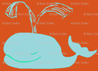 Big Blue Whales ORANGE