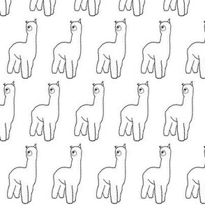 ALPACA | black and white