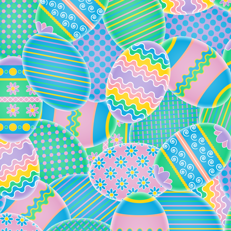 Colorful Eggs fabric by jjtrends on Spoonflower - custom fabric