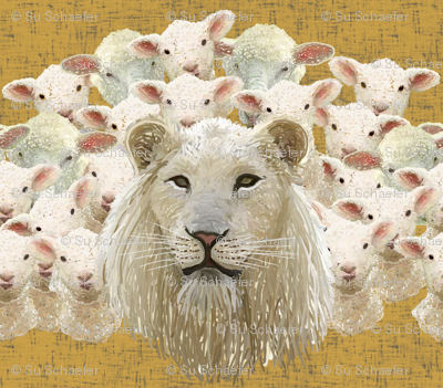 Lambs led by a lion