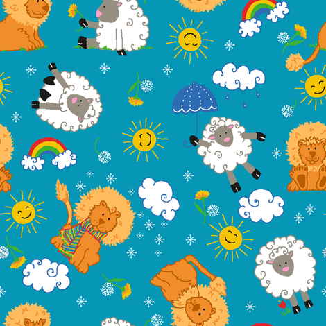 Lions or Lambs  fabric by beebumble on Spoonflower - custom fabric