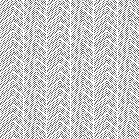 chevron ♥ dark grey and white fabric by misstiina on Spoonflower - custom fabric
