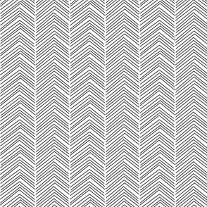 chevron ♥ dark grey and white