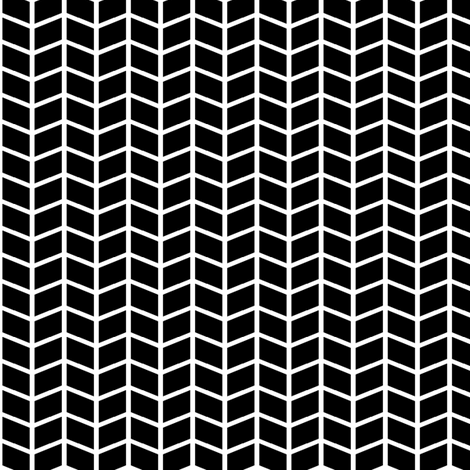black + white herringbone fabric by misstiina on Spoonflower - custom fabric