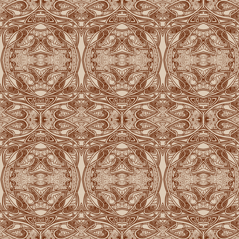 Christmas Eve 1903 (art nouveau orbs and leaves)-ch fabric by edsel2084 on Spoonflower - custom fabric