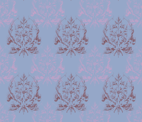 Floral Damask ~ St. Germaine fabric by peacoquettedesigns on Spoonflower - custom fabric