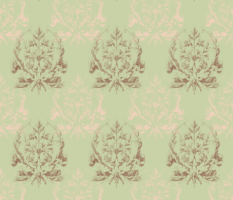 Floral Damask ~ L'Atelier fabric by peacoquettedesigns on Spoonflower - custom fabric