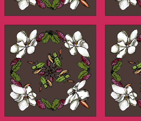 Larger_Magnolias fabric by adr_designs on Spoonflower - custom fabric