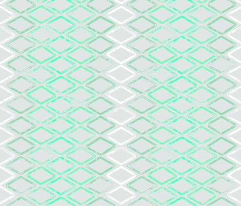 Diamonds are Forever - Turquoise Ombre mirror on Gray fabric by cameronhomemade on Spoonflower - custom fabric