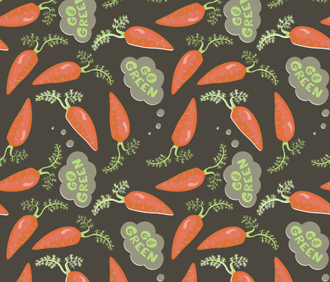 carrotsondark fabric by demonique on Spoonflower - custom fabric