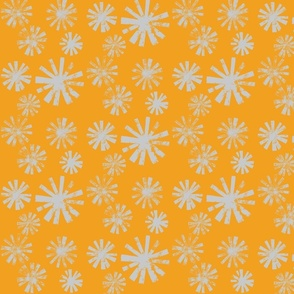 Starburst-gray on orange