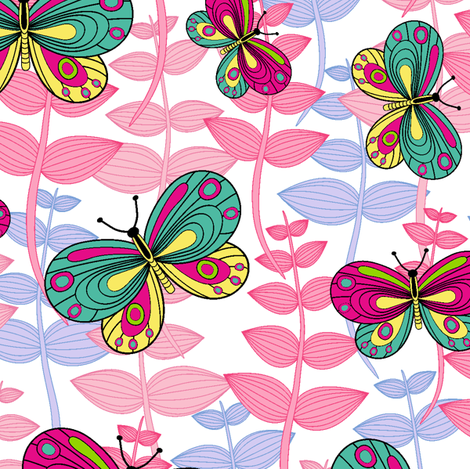 My butterflies.  fabric by juliagrifol on Spoonflower - custom fabric