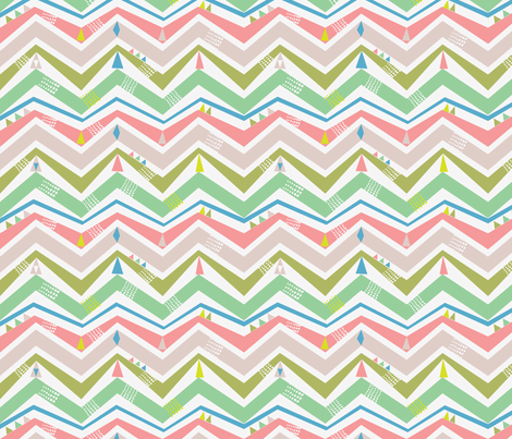 spring chevron fabric by bethan_janine on Spoonflower - custom fabric