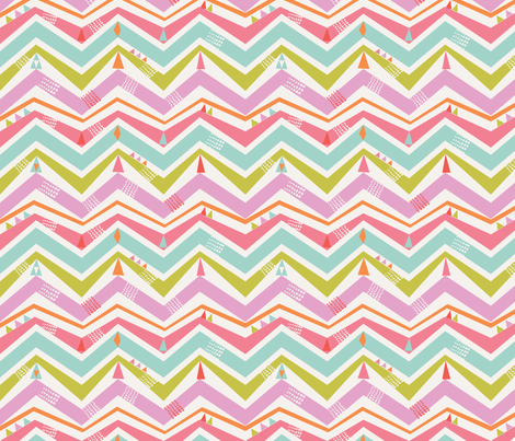 summer chevron fabric by bethan_janine on Spoonflower - custom fabric