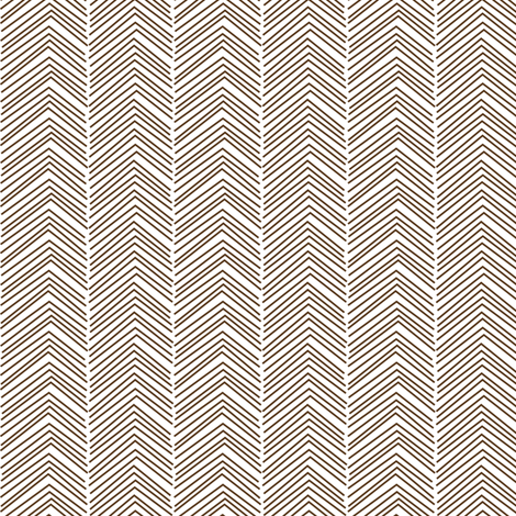 chevron ♥ brown fabric by misstiina on Spoonflower - custom fabric