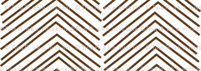 chevron ♥ brown and white
