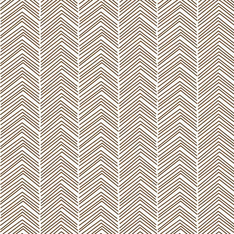 chevron ♥ brown and white fabric by misstiina on Spoonflower - custom fabric