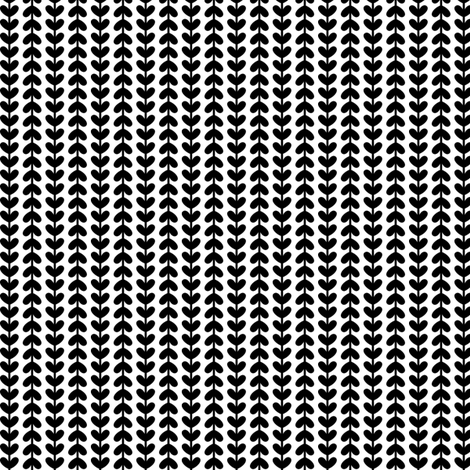 black and white vine hearts fabric by misstiina on Spoonflower - custom fabric