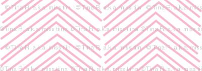 chevron ♥ light pink and white