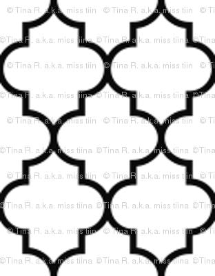 black and white quatrefoil