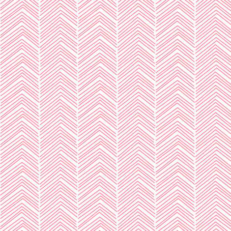 chevron ♥ pretty pink and white fabric by misstiina on Spoonflower - custom fabric