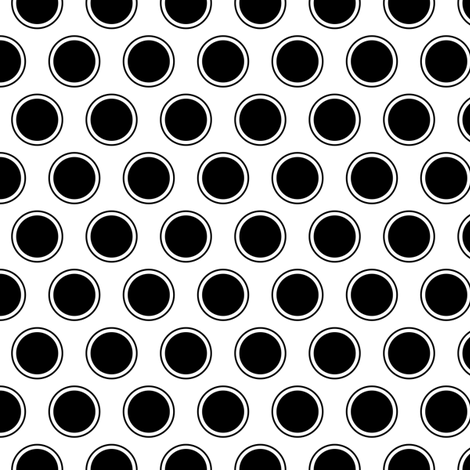 black and white polka dots fabric by misstiina on Spoonflower - custom fabric