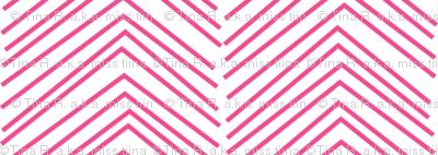 chevron ♥ dark pink and white